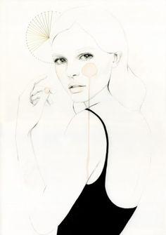 fashion portrait illustration elisa mazzone- love this Art And Illustration, Fashion Illustration Sketches, Portrait Illustration, Art Illustrations, Mode Collage, Inspiration Art, Art Drawings, Drawing Faces, Art Journals