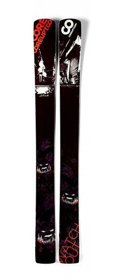 Coreupt Watch Out 2012, Guerlain Chicherit's pro model, big mountain and big powder skis http://www.coreupt.fr/