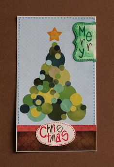 spotted christmas card tree biglietto natale albero