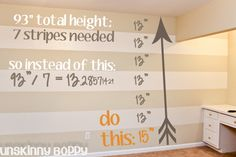 Painting Stripes this summer..not sure of the color..liking yellow & grey but teal & orange are cute too!