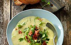 potato soup with leeks Leek Recipes, Healthy Snacks, Healthy Recipes, Healthy Life, Easy Cooking, Pumpkin Spice, Snack Recipes, Baking Recipes, Food Porn