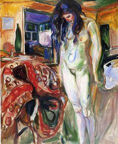 Edvard Munch; Modella nuda; 1921; olio su tela;Munch museet - Oslo