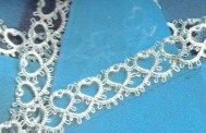 Tatting – Handkerchief edging. would be nice for a wedding