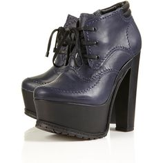 Argue Heavy Platform Boots (260 AUD) ❤ liked on Polyvore featuring shoes, boots, heels, topshop, platform, women, heeled boots, lace-up platform boots, lace up boots and leather lace up boots