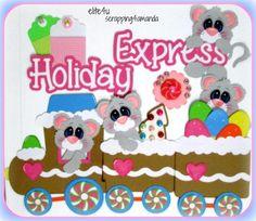 ELITE4U KAM Christmas Premade Paper Piecing for Scrapbook Mat Set Kit Album Page | eBay