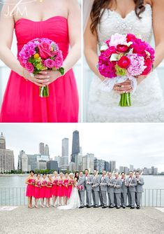 Pink and Green Wedding Flowers // A GLITTERY VICTORIAN IN THE PARK WEDDING // MT. PROSPECT WEDDING PHOTOGRAPHY