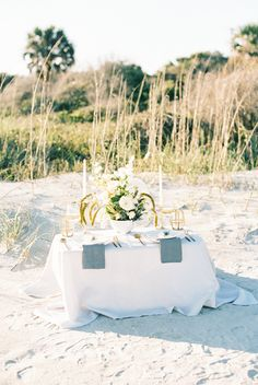 If braids, beaches and all things beautiful fit right into your wedding vision, feast your eyes on this wedding inspiration. Elope Wedding, Elopement Wedding, Folly Beach, Charleston, Neutral, Wedding Inspiration, Table Decorations, Beautiful, Beautiful Places