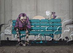 El inmenso talento de Aryz : Distorsion Urbana #streetart #urbanart #street…
