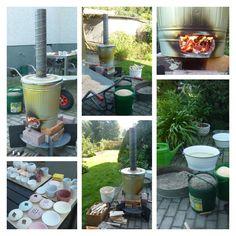 Raku-Brennen mit selbstgebautem Raku-Ofen