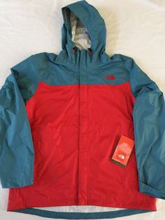NEW THE NORTH FACE MENS HYVENT VENTURE 2.5L RAIN JACKET Red Blue XL #TheNorthFace #Rainwear