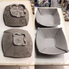 Inside vs outside again. Folded bowl with texture. Made By Merle
