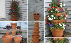 How to Make A Terra Cotta Pot Flower Tower