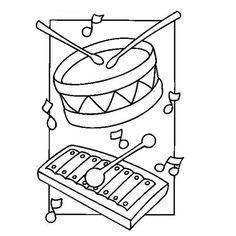 Coloriage Instruments de Musique
