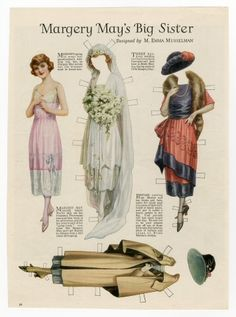 76.3971: Margery May's Big Sister | paper doll | Paper Dolls | Dolls | National Museum of Play Online Collections | The Strong