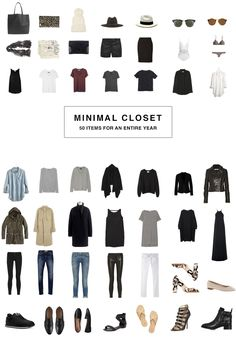 super minimal closet | 50 items for 1 year