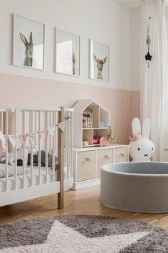 Pink and grey girl nursery. Pink and grey girl nursery. Pink and grey girl nursery. Pink and grey gi Baby Bedroom, Baby Boy Rooms, Little Girl Rooms, Baby Room Decor, Nursery Room, Kids Bedroom, Baby Girl Nursery Pink And Grey, Nursery Neutral, Pastel Nursery