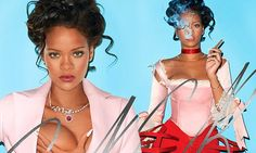 Rihanna grabs her chest as she transforms into saucy Marie Antoinette