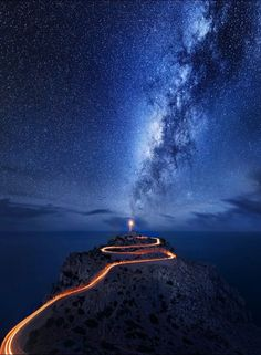 Space Night Sky Stars Lighthouse | Always have been captivated by the mightiness and mystery of space - stars are the diamonds that every person needs to see closely!