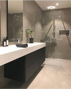 od morgen😃☕️Føler meg som en zombie i dag😵Hadde besøk i går kveld, . Modern Bathroom Mirrors, Bathroom Mirror Design, Modern White Bathroom, Zen Bathroom, Master Bedroom Bathroom, Bathroom Design Luxury, Bathroom Styling, Bathroom Designs, Small Bathroom