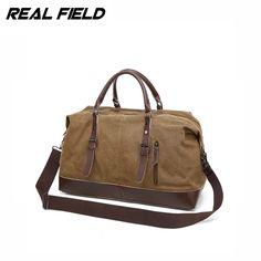 3abb5ffffeed Real Field RF Men Canvas Duffle Tote Bag Casual Weekend Portable  Multifunctional Crossbody Waterproof Luggage Travel Handbags 9-in Travel  Bags from Luggage ...
