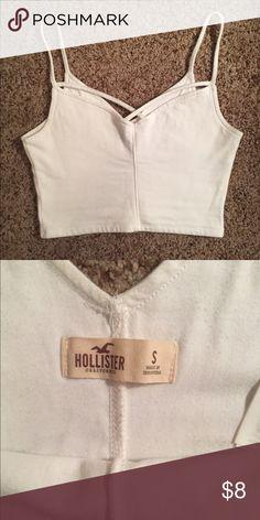 Hollister bralette White cross front bralette from Hollister. Size small. Hollister Intimates & Sleepwear Bras