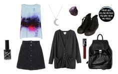 """Back to School"" by musicloverlr ❤ liked on Polyvore featuring Topshop, Lulu Hayes, Finn, Vintage, Monki and NARS Cosmetics"