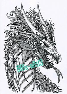 download adult coloring zenzia dragon made by bri