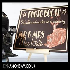 Fantastic photo booth sign for weddings