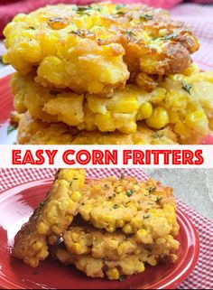 recipes videos Yall will love this recipe for corn fritters using canned corn. Its easy to whip up in about five minutes, plus ten more to fry them. This is a bona fide recipe that has been on southern tables for generations. Vegetable Dishes, Vegetable Recipes, Vegetarian Recipes, Healthy Recipes, Chicken Recipes, Vegetarian Barbecue, Barbecue Recipes, Vegetarian Cooking, Easy Recipes For Two
