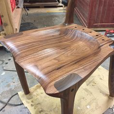 A review of some of my favourite projects from 2016 - this is a walnut Sam Maloof inspired dining chair #calgarywoodworkers #bench #calgarywoodworking #yycwoodworker #maloof #yycwoodworking #garawood #2016 #yearinreview #wood #woodporn #woodreview #finewoodworking #festool #kutzall #generalfinishes #osmo #house #home #kitchen #furniture #chair #dining #woodworking #titebond #walnut #maple #padauk #rocker #rockingchair