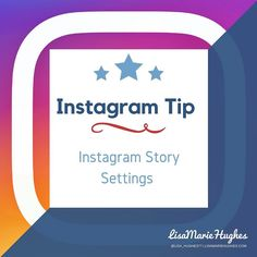 Instagram Tip: Instagram Story Settings  Make sure you check your Instagram Story settings before you GO LIVE!  To do this click on the setting wheel icon (cog) in the top right hand corner of your profile and click on Story Settings or select the setting wheel in the top left of the Live screen.  Configure your settings accordingly you can specify who you do and don't want to see your Instagram story and who can message you about it.  Just to make you aware  the Save Shared Photos setting…