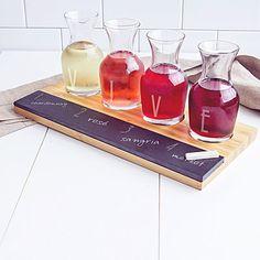 Personalized Bamboo & Slate Wine Tasting Flight  by skykeepsakes $49.99
