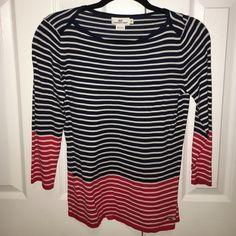 VV Striped Shirt Navy & Red Vineyard Vines Tops