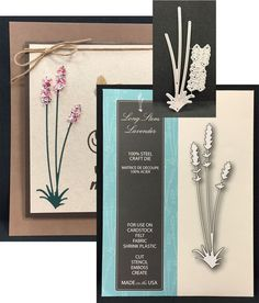LONG STEM LAVENDER Steel Die-cut By MEMORY BOX 99108 - Inspiration Station Scrapbook Store & Retreat