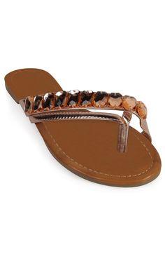 Deb Shops crossover stone strap #sandal