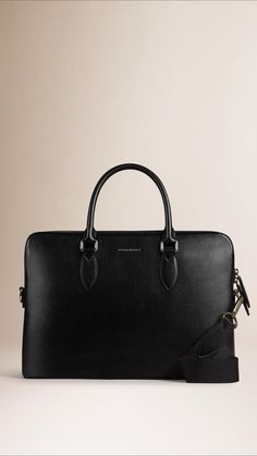 Burberry The Barrow In London Leather Man Purse, Burberry Handbags, Leather  Briefcase, Burberry dfc58bfb13