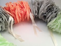 Green Coral and Gray Grey LARGE Coffee Filter by LetsWearDresses