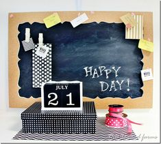Create these gorgeous chalk boards with cork board frames using Elmer's foam board products! Check out the how-to from @thistlewoodfarm.