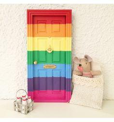 puerta ratoncito perez para bebe arcoiris y bebés estrella, puerta ratoncito pérez orgullo gay