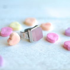Pink Cosmo Cocktail Ring // Recycled Pewter Band by reVetro