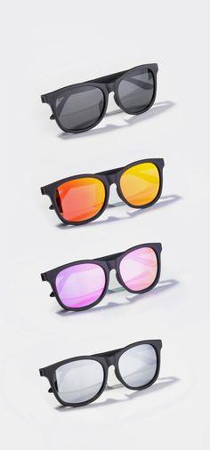 Sunglasses for Men, Women & Kids Carbon Black, Wayfarer Sunglasses, Different Colors, Lenses, Eyewear, Charcoal, Challenge, Neon, Silver