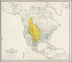 A mournful 1876 map tracks the disappearance of the American bison, Slate Magazine