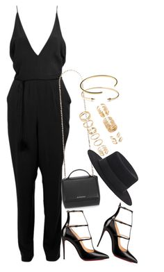 """""""Untitled #1082"""" by oh-its-anna ❤ liked on Polyvore featuring Christian Louboutin, Givenchy, Yves Saint Laurent, Forever 21, Jeweliq and Le Gramme"""