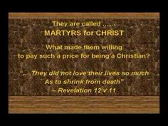They are called MARTYRS for CHRIST. What made them willing to pay such a price for being a Christian? Bible Study Guide, Bible Study Tools, Study Guides, Persecuted Church, Prayer List, Understanding The Bible, Bible Teachings, Bible Truth, Christ