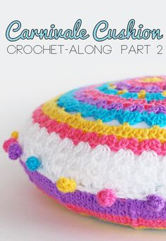 Carnivale Cushion: Crochet-Along Part 1 - My Poppet -Your weekly dose of crafty inspiration Bag Crochet, Crochet Home, Love Crochet, Crochet Motif, Crochet Crafts, Crochet Projects, Crochet Stitches, Crochet Cushion Cover, Pillows