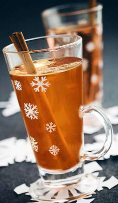 Hot Buttered Rum: 1 Tbsp. butter , 1 tsp. brown sugar, 3 dashes cinnamon, 1 pinch nutmeg, 2 oz. Sailor Jerry Spiced Rum  and hot water.    Muddle butter, sugar and spices in a mug. Add rum and top with hot water; gently stir.
