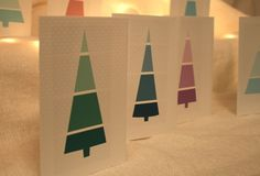 holiday cards from paint strips