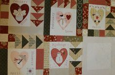 Patchwork Allsorts: May Snow Happy Heart Block