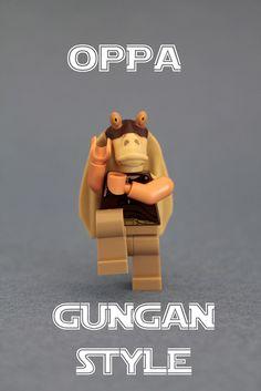 LEGO Star Wars Oppa Gungan Style  #lego #legominifigure #minifigure #legostarwars #starwars #legogungan #gungan   http://www.Adopt-A-Brick.com/