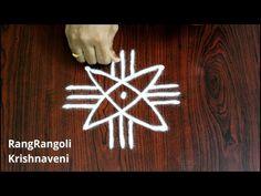 Rangoli Designs Flower, Rangoli Kolam Designs, Rangoli Ideas, Rangoli Designs Images, Kolam Rangoli, Flower Rangoli, Beautiful Rangoli Designs, Small Free Hand Rangoli, Free Hand Rangoli Design